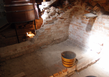 An excavated cell under the chapel.